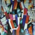 "13.  Экстер Александра  ""Город""  1913  Холст, масло  88,5х70,5  Вологодская областная картинная галерея"