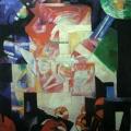 """15.  Экстер Александра  """"Композиция""""  1914  Холст, масло  90,7х72,5  Государственная Третьяковская галерея"""