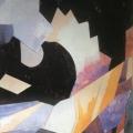 """22.  Экстер Александра  """"Динамическая композиция""""  Около 1916  Бумага, гуашь  65х51  Частное собрание"""