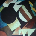 "27.  Экстер Александра  ""Конструктивный натюрморт""  1920-1921(?)  Холст, масло  121х109  Государственный Русский музей"