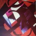 """33.  Экстер Александра  """"Цветовая конструкция""""  1922  Холст, масло  62х66  Дагестанский республиканский музей изобразительных искусств, Махачкала"""