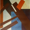 "35.  Экстер Александра  ""Композиция""  1921  Бумага, гуашь  42х39,5  Художественная Галерея Олбрайт-Нокс, США"