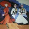 """4  Экстер Александра  """"Три женские фигуры""""  1910-1911  Холст, масло  60х63  Государственный музей украинского изобразительного искусства, Киев"""