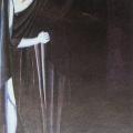 """56.  Экстер Александра  Эскизы декораций и костюмов к трагедии О.Уайльда """"Саломея"""" - Иоканаан  1916-1917  Картон, гуашь  68х47,2  Государственный центральный музей театрального искусства им.Бахрушина, Москва"""