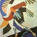 """72.  Экстер Александра  """"Мужской костюм""""  1920  Картон, гуашь  32х38  Частное собрание"""