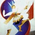 "74.  Экстер Александра  ""Мужской костюм""  1920  Картон, гуашь, бронза  50х37,5  Собрание И.Федоркова"