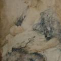 """3. Фонвизин Артур """"Материнство"""" 1934 Бумага, акварель 63х43,2 Государственная Третьяковская галерея"""