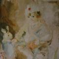 """4. Фонвизин Артур """"Портрет Серёжи с игрушками"""" 1939 Бумага, акварель 65х44 Частное собрание"""