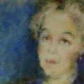 """13. Фонвизин Артур """"Женский портрет"""" 1950-е Бумага, акварель 25х43 Частное собрание"""