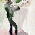 "26. Фонвизин Артур ""Цирк. Клоун"" 1935 Бумага, акварель Калужский художественный музей"