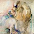 """27. Фонвизин Артур """"Цирк. Наездница"""" 1936 Бумага, акварель Калужский художественный музей"""