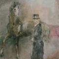 """30. Фонвизин Артур """"Цирк. Моя любимая лошадь"""" 1938 Бумага, акварель 65х44 Частное собрание"""