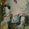 """34. Фонвизин Артур """"Цирк. Лошадь с чёрной гривой"""" 1954 Бумага, акварель 45х30 ГМИИ имени А.С. Пушкина"""