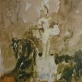 """41. Фонвизин Артур """"Цирк. Стоящая наездница на вороном коне"""" 1960-е Бумага, акварель 47,8х31,4 Государственная Третьяковская галерея"""