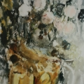 "48. Фонвизин Артур ""Белые розы"" 1955 Бумага, акварель 60х40 ГМИИ имени А.С. Пушкина"