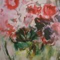 """50. Фонвизин Артур """"Тюльпаны в зелёной вазе"""" Начало 1960-х Бумага, акварель 42х29,5 Частное собрание"""