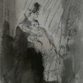"""69. Фонвизин Артур """"Иллюстрация к сказrе Э.Т.А. Гофмана """"Повелитель блох"""" 1937 Бумага, тушь, акварель 24,8х15,3 Частное собрание"""