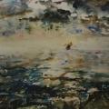 """72. Фонвизин Артур """"Море"""" 1931 Бумага, акварель 31,6х43,9 Государственная Третьяковская галерея"""