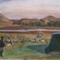 Григорий Гагарин «Лагерь при Кара-Будах-Кенте» 1841 Государственный Русский музей.