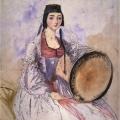 Григорий Гагарин «Портрет княжны Челокаевой» 1840-1841 Государственный Русский музей.