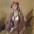 Григорий Гагарин «Портрет грузинки с русыми косами» 1840-1841 Государственный Русский музей.