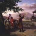 Григорий Гагарин «Портрет семьи Арнаутовых» 1840-е Самарский областной художественный музей.