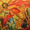 "32. Глебова Татьяна ""Пасха"" 1953 Холст, масло 100х120 Частное собрание, С.-Петербург"