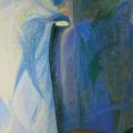 "37. Глебова Татьяна ""Чехословакия. Надгробие"" 1974 Картон, масло 49,9х34,9 Из собрания А.Б.Стерлигова, Москва"