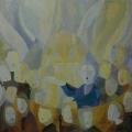 "44. Глебова Татьяна ""Хор"" 1968 Картон, темпера 50х57,6 Государственный Русский музей"