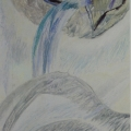 """55. Глебова Татьяна """"Разверзлись хляби небесные"""" Начло 1980-х Холст, масло 65,5х50,5 Из собрания А.Б.Стерлигова, Москва"""