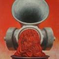 "14. Гросицкий Андрей ""Агрегат №7"" 1988 Оргалит, масло 140х110"