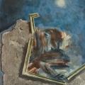 """22. Гросицкий Андрей """"Разрушение картины"""" 1994 Холст, масло 120х100"""