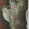 """26. Гросицкий Андрей """"Осколок трубы"""" 1995 Дерево, масло 97х63"""