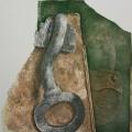 """32. Гросицкий Андрей """"Останки картин"""" 1997 Оргалит, холст, масло 123х120"""