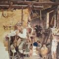 """11. Гун Карл """"Французский крестьянин"""" 1870 Бумага, акварель, графитный карандаш, белила 40,5х32 Государственная Третьяковская галерея"""