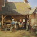 """12. Гун Карл """"Попался!"""" 1875 Холст, масло 52х67 Государственная Третьяковская галерея"""