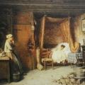 """5. Гун Карл """"Больное дитя"""" 1869 Холст, масло 39х49 Государственная Третьяковская галерея"""