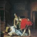 """9. Гун Карл """"Сцена из Варфоломеевской ночи"""" 1870 Холст, масло 142,3х113 Государственная Третьяковская галерея"""