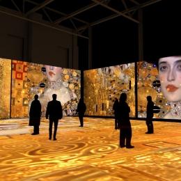 """Мультимедиа спектакль """"Густав Климт. Золото модерна"""". Предоставлено: Центр цифрового искусства Artplay Media."""