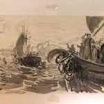 """И.Е. Репин """"Садко. Отплытие"""" 1896-1904. Предоставлено: Галерея """"Веллум""""."""
