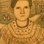 """Е.В. Честняков """"Даша в бусах"""" 1910-е. Предоставлено: Галерея """"Веллум""""."""