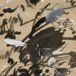 """Ирина Мудрова """"Абстрактная каллиграфия"""" 1980-1990-е. Предоставлено: Галерея """"Открытый Клуб""""."""