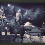 """Олег Кулик """"Красная площадь. Из серии """"Русское"""" 1999. Предоставлено: OVCHARENKO Gallery."""