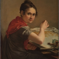 """Тропинин В.А. """"Золотошвейка"""" 1826. Государственная Третьяковская галерея. Предоставлено: Государственная Третьяковская галерея."""