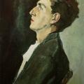 """57.  Корин Павел  """"Портрет юноши. И.Голицын""""  1947  Холст, масло  46х35,5  Астраханская государственная картинная галерея"""
