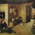 """2. Крылов Никифор """"Кухня"""" 1826 Картон, масло 35,5х44 Государственный Русский музей"""