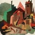 """23.  Куприн Александр  """"Старинный замок""""  1922  Композиция из крашенного картона  62х89,5  Бывшее собрание Т.С.Анисимовой-Куприной, вдовы художника"""