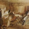 "1. Лемох Карл ""Жанровая сцена"" 1868 Картон, масло 24,5х30,8 Государственный Русский музей"