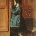 """2. Лемох Карл """"Девочка, пишущая письмо"""" 1871 Холст, масло 23,8х18,5 Нижнетагильский музей изобразительных искусств"""