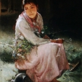 """7. Лемох Карл """"Женский портрет"""" 1880 Холст, масло 71,2х46,2 Государственный художественно-архитектурный дворцово-парковый музей-заповедник Гатчина"""